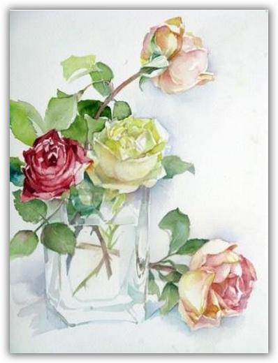 aquarellieren nach vorlagen  sendling  harras februar